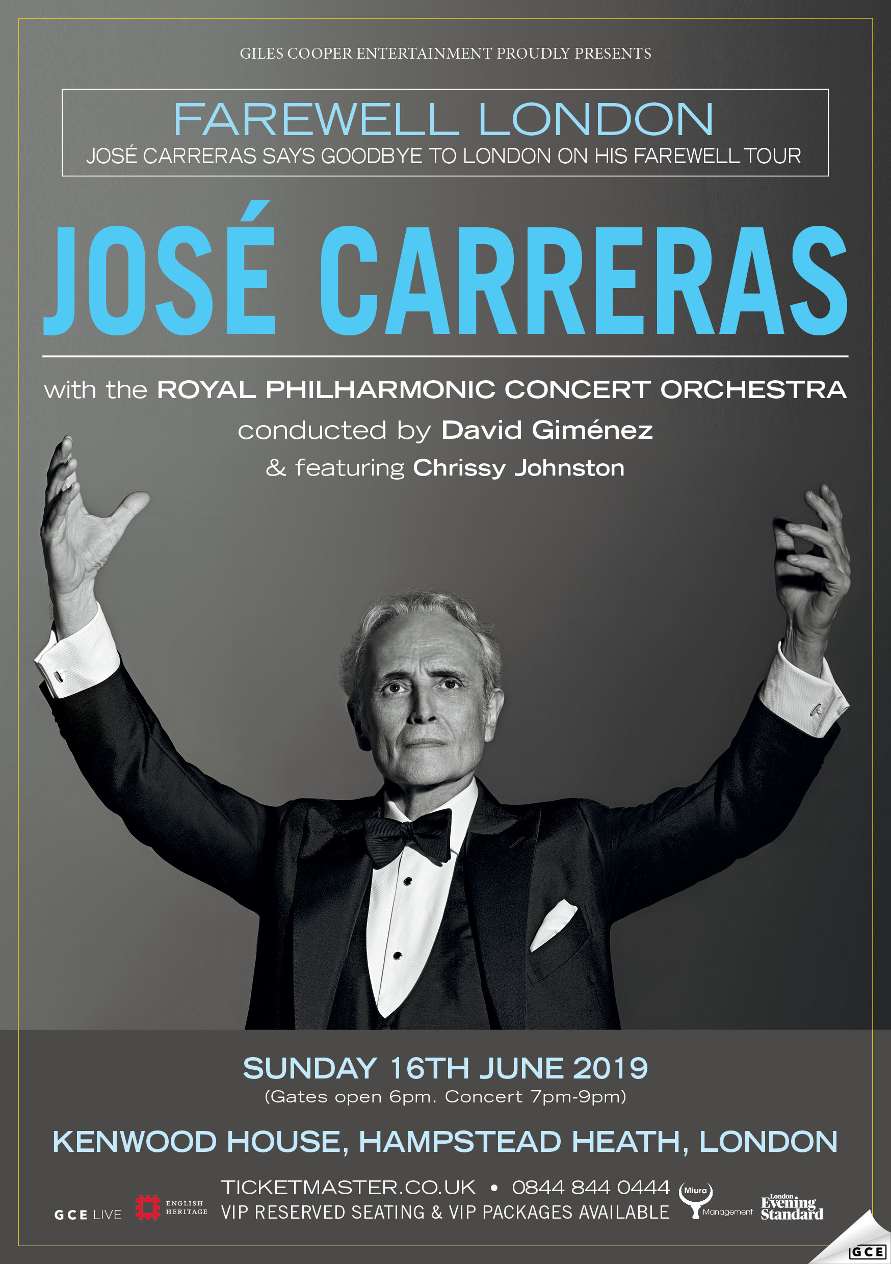 jose carreras, ticketmaster, chrissy, kenwood house, hampsted heath, christina, johnston, opera, royal, philharmonic, david gimenez, june, london